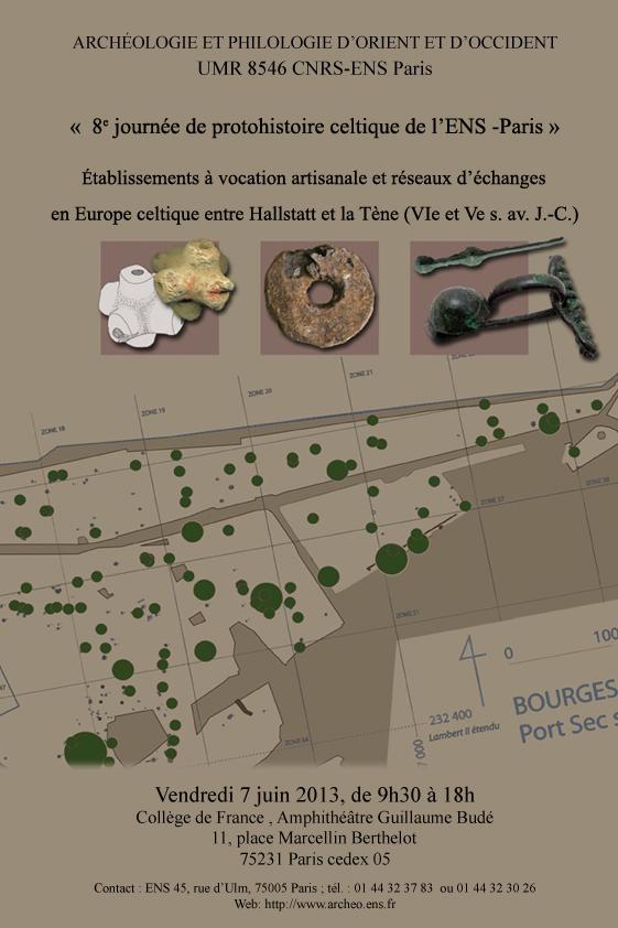 Journées De Protohistoire Celtique De Lens Paris Umr 8546 Cnrs